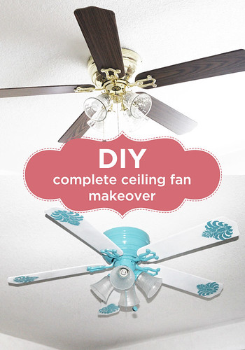 DIY complete fan makeover with spray paint