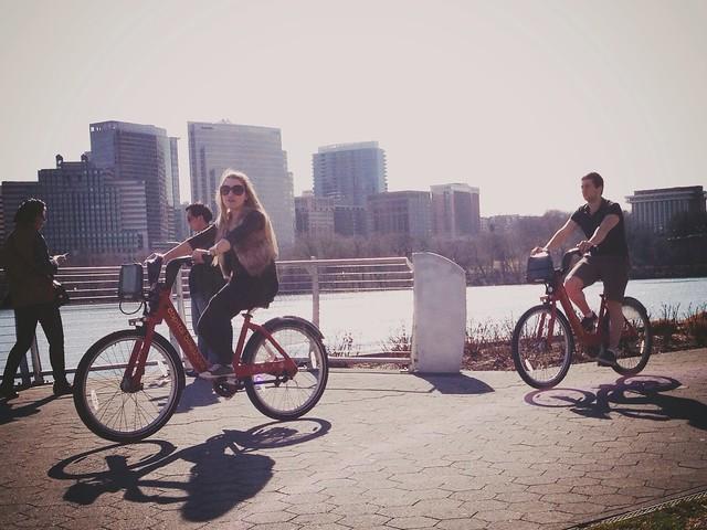 Bikeshare along the Potomac #errandonnee 2