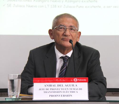 Sr. Anibal del Águila, Jefe de proyecto en temas de Transmisión eléctrica de ProInversión
