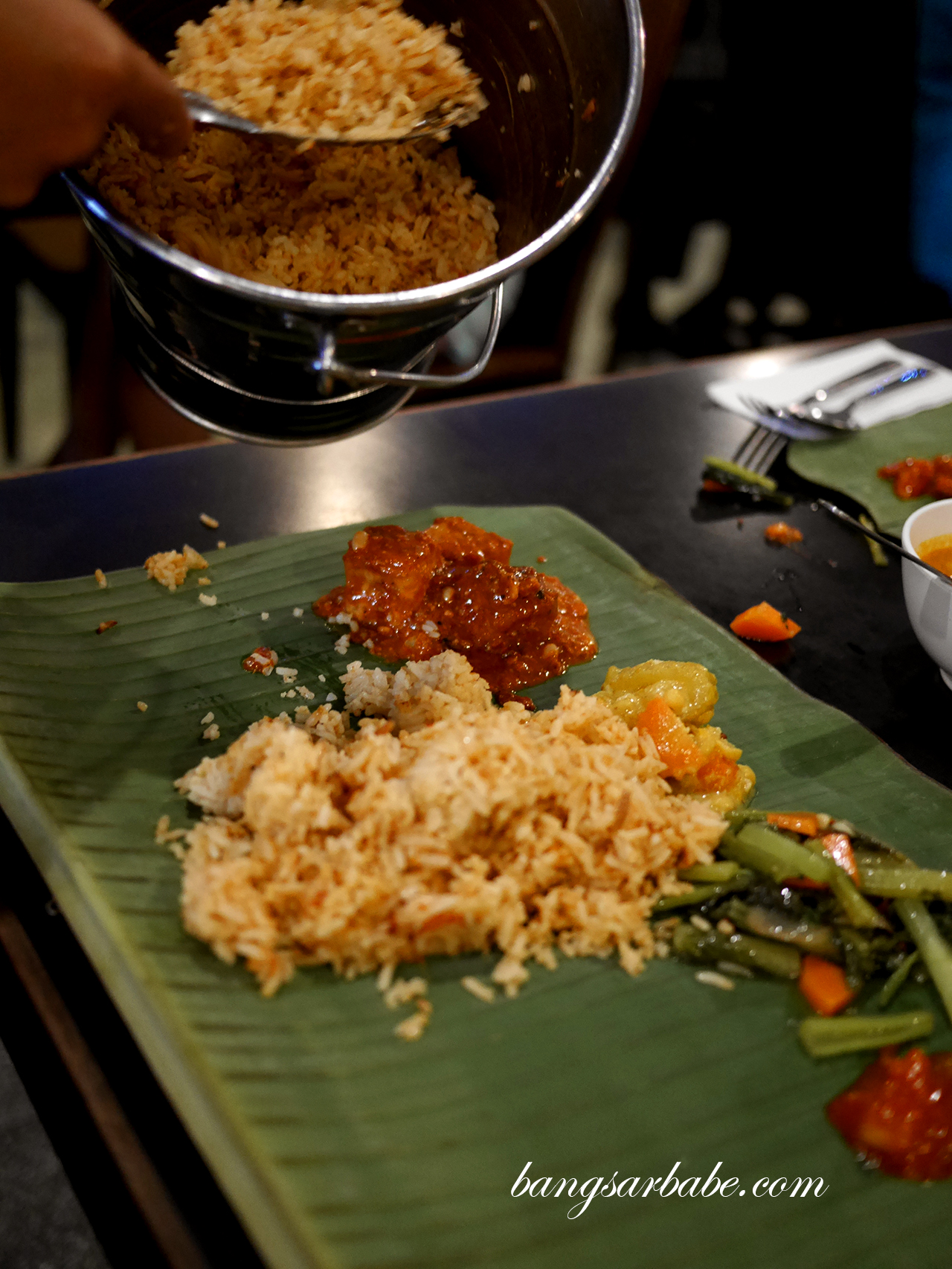 Banana Leaf Rice - Tomato Rice