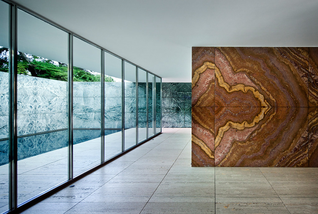 barcelona pavilion barcelona spain mies van der rohe. Black Bedroom Furniture Sets. Home Design Ideas