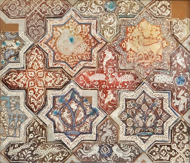 Panneau en carreaux de c ramique mus e d 39 art islamique b for Carreaux de ceramique mural