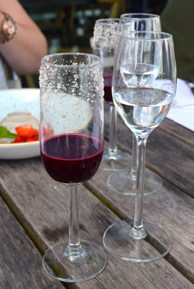 Beetroot Juice and Smoked Salt with Gin Mare at Rocksalt, Folkestone | www.rachelphipps.com @rachelphipps