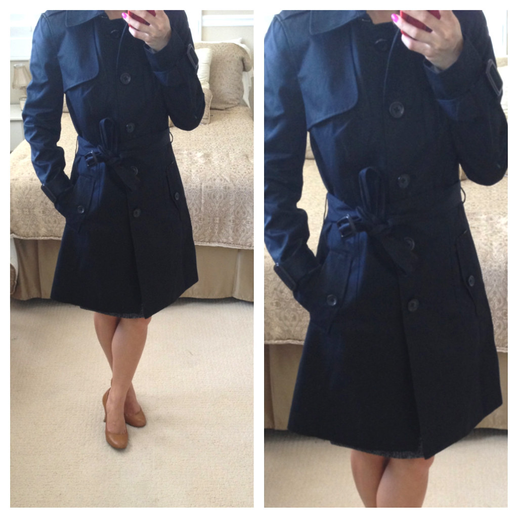 Banana Republic Factory Petite Black Trench Coat | Stylish Petite ...