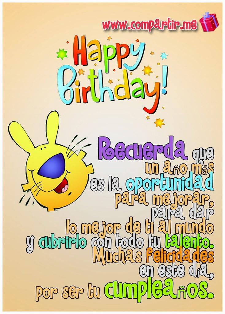 Happy Birthday Para Hombres Imagenes ~ Im�genes para compartir postal de happy birthday con fras flickr