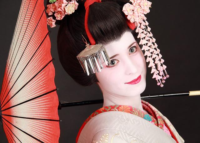 Maquillaje de geisha en Japón