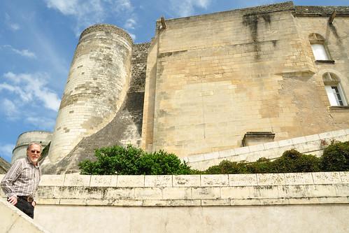 Frankreich 2016 Schlösser der Loire - Wie schon Chaumont-sur-Loire besichtigen wir auch das Schloss in Amboise nur von außen bzw. von der Loire aus nach oben. Karl VIII. hat sich hier ein Königsschloss erbauen lassen, inspiriert von den prächtigen Renaissance-Palästen, die er auf seinen Italienfeldzügen gesehen hatte. Das Château d'Amboise liegt auf einem Felsplateau hoch über der Stadt und dem Fluss. Auch die historische Altstadt von Amboise ist anziehend, freundlich, lebhaft und bei den Fans der Loire-Schlösser sehr beliebt. - Foto: Brigitte Stolle