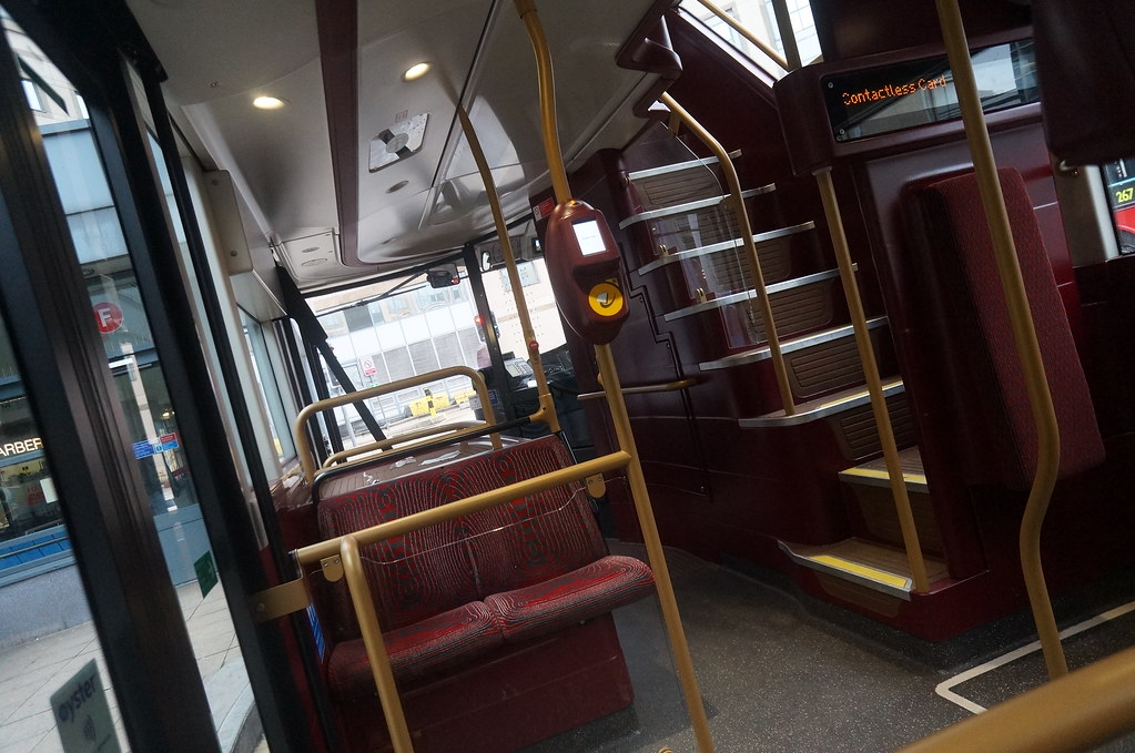 New London Bus Inside Has 3 Doors 4 Passengers So Smooth 2
