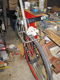 Dust Mite checks out a new rack jig