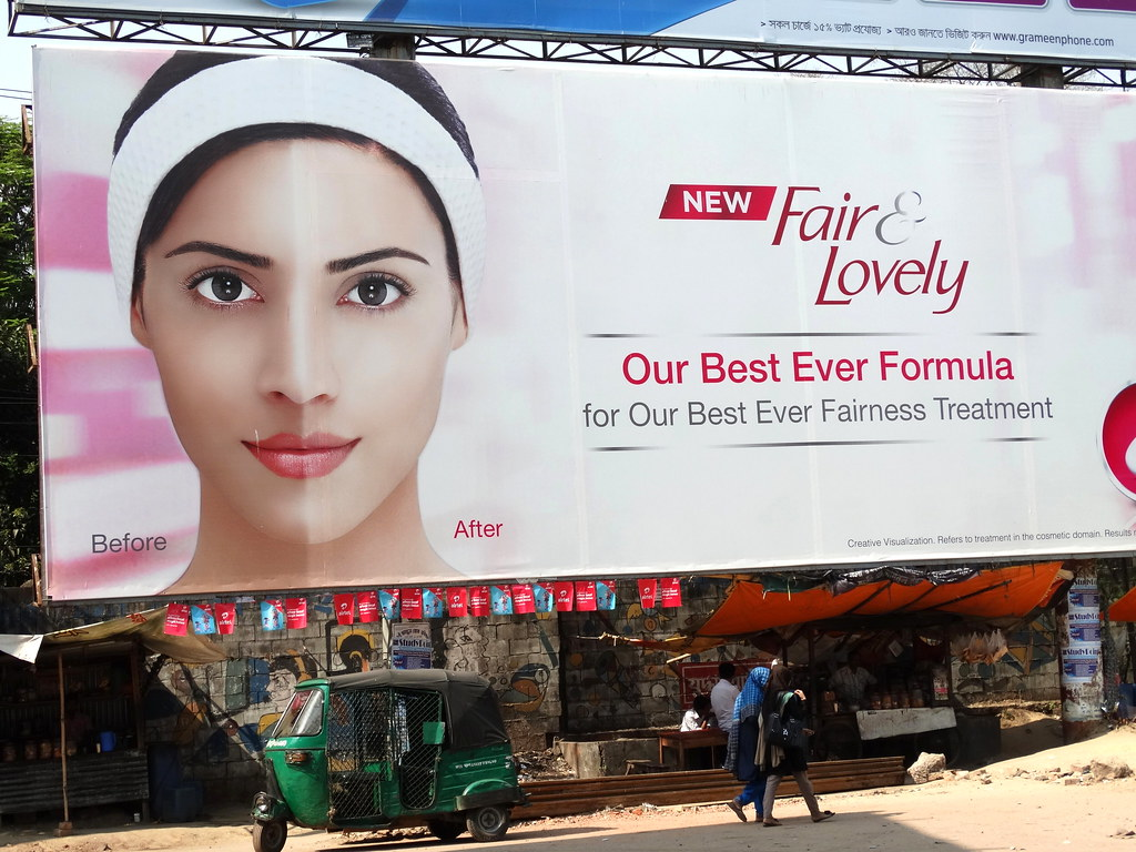 Fair and Lovely - Billboard for Skin-Whitening Cream - Chi ...