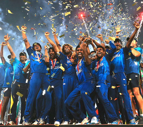Victorious Sri Lankan cricket team returns home after achieving the ...