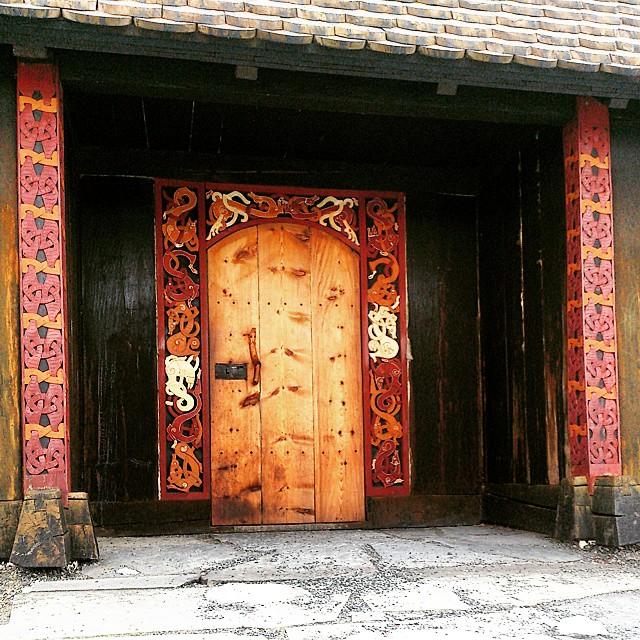 Amazing Woodworking: Viking Longhouse Entrance At Stiklestad...Amazing Woodwork