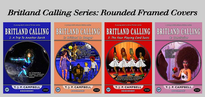 Britland Calling rounded inside frame system for the Four Book Covers