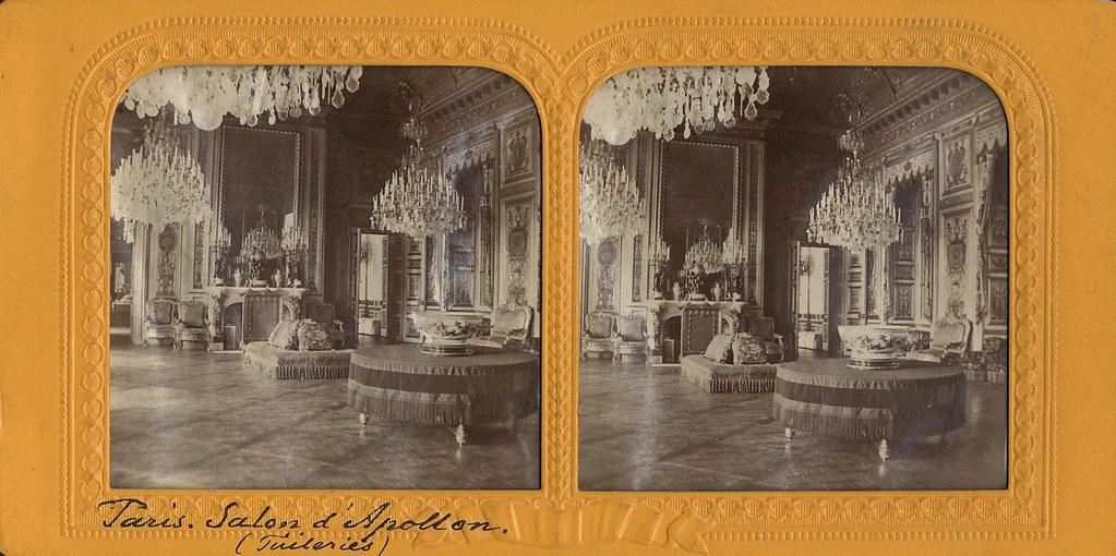 Palais des tuileries ska518 stereobild av salon d for Salon d apollon