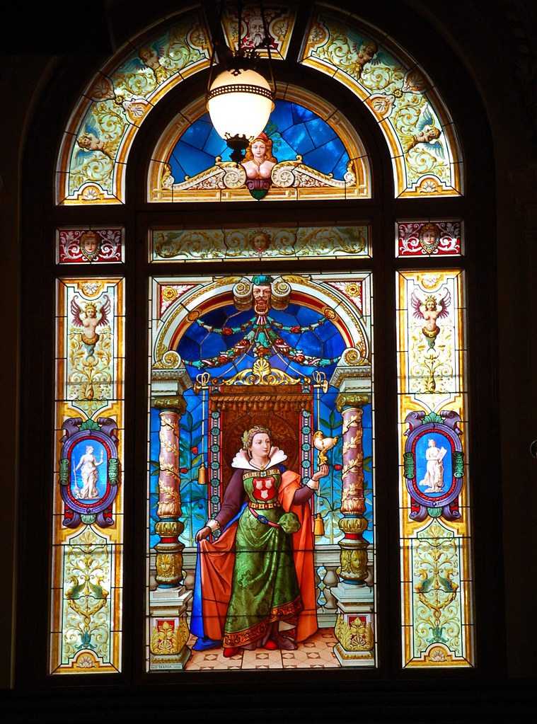 stained glass window museum of decorative arts in prague flickr