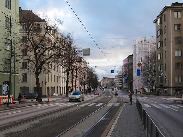 Calle central de Helsinki
