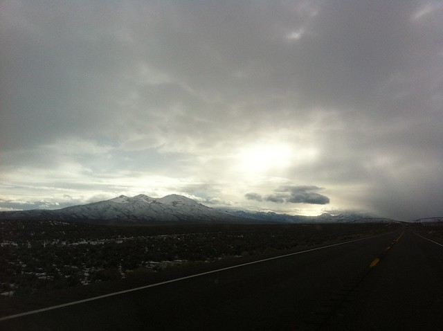 Snow Capped Mountains in Nevada