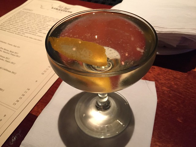 Blonde Manhattan cocktail - Zare at Fly Trap