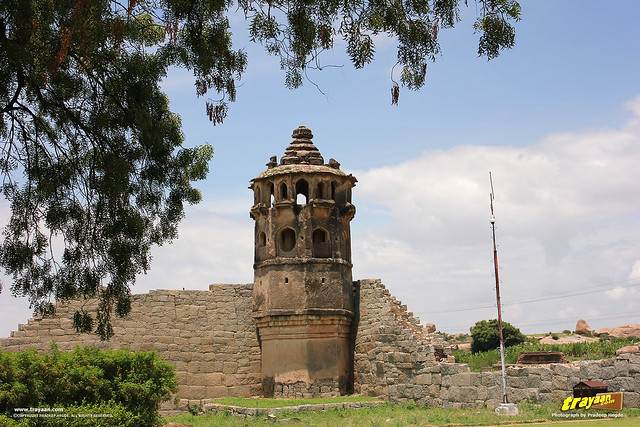South-East Watch tower in Zenana Enclosure, Hampi, Ballari district, Karnataka, India