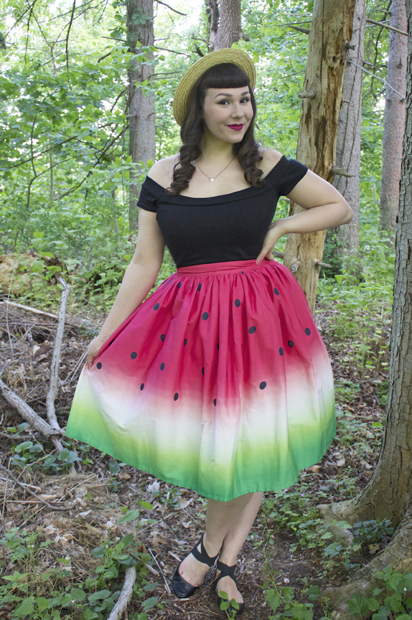 watermelon skirt dress