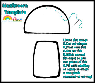 Felt Mushroom Template Flickr Photo Sharing