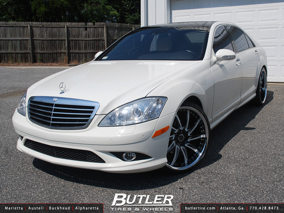 Mercedes s550 with 22in savini sv50 wheels additional for Mercedes benz atlanta jobs