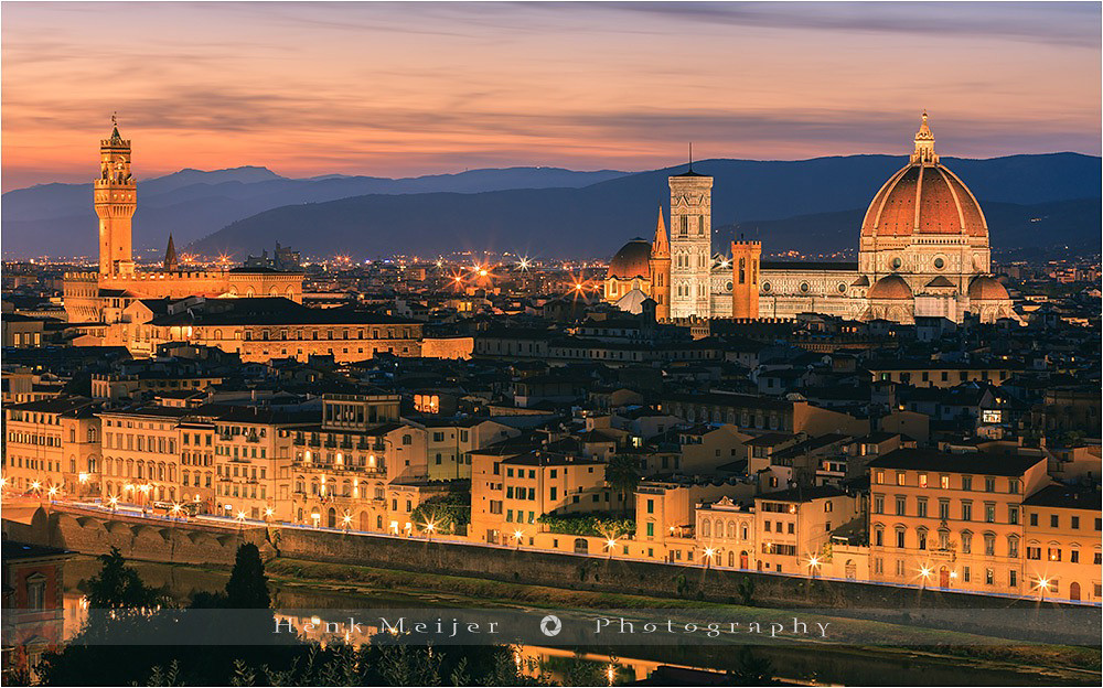 Italian Florence: View Over Florence From Piazzale Michelangelo