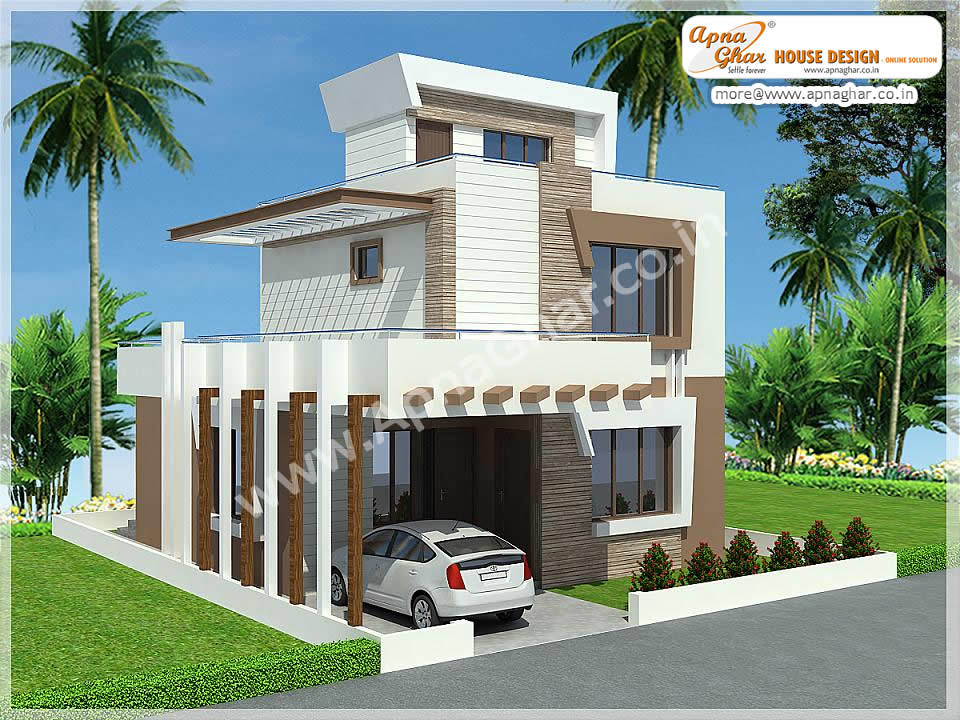 Simple modern duplex house design simple modern duplex for Double bedroom independent house plans