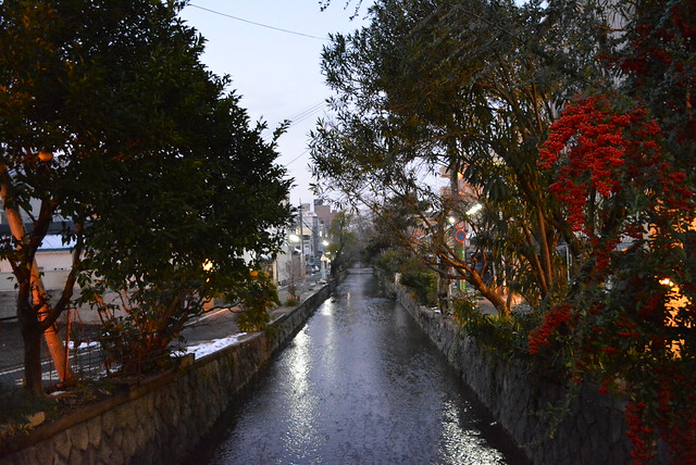 A small river in Kyoto. This was one photo I took as I explored the city by myself.