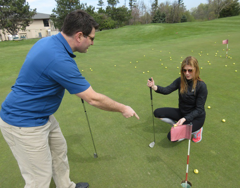 golf lessons gone wrong, a dating fail on the golf course