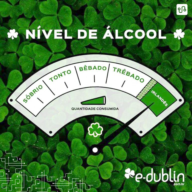 Uma ilustração da grande lenda que é o nível alcoólico ao qual os irlandeses são capazes de chegar. Segredinho: não é bem assim não, principalmente entre os mais jovens. Eles ficam muito bêbados e passam muito mal na mesma velocidade, na maioria das vezes por causa de vodka. O encanto acaba rápido