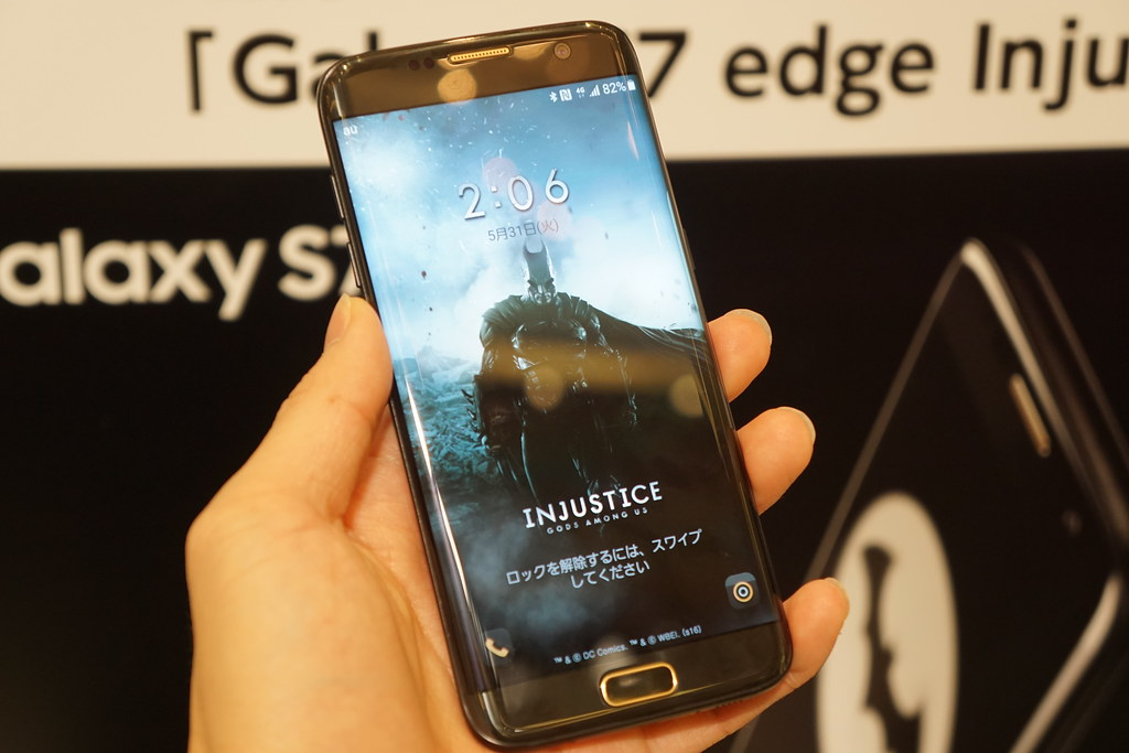 au、バットマンスマホ「Galaxy S7 edge Injustice Edition」を7月4日発売。価格は14万円