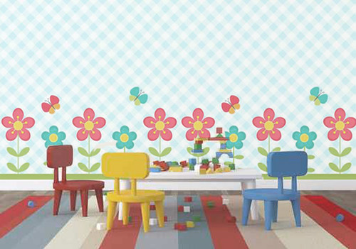 Flores decoraci n de paredes decoraci n de habitaciones for Decoracion para paredes infantiles