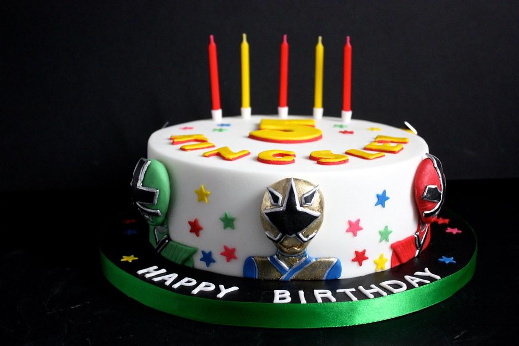 Power Rangers Samurai Birthday Cake Ideas