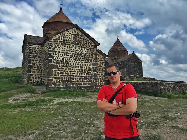 Sele en Sevanavank (Lago Sevan, Armenia)
