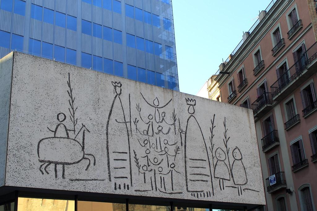 007775 barcelona colegio de arquitectos friso obra de - Colegio arquitectos barcelona ...