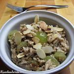 Reissalat mit Trauben und Feta