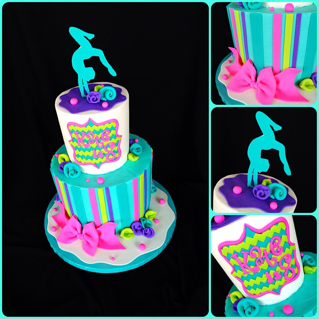 Gymnastics Cake | Thus was for a client whose daughter ...
