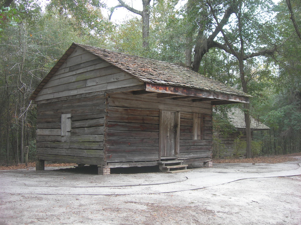 Hewn log cabins constructed by slaves in the late 1830s for Hewn log cabin kits