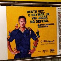 #brasilnadefesadainfancia #neymar #republica #metro