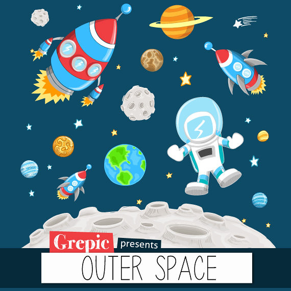Outer space clipart outer space clip art pack with plan for Outerspace forum