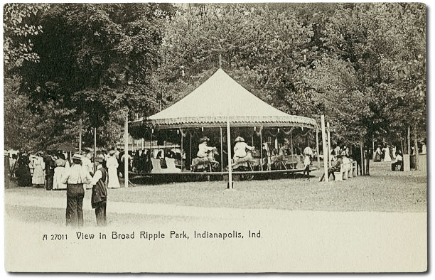View Of Carousel In Broad Ripple Park Indianapolis India