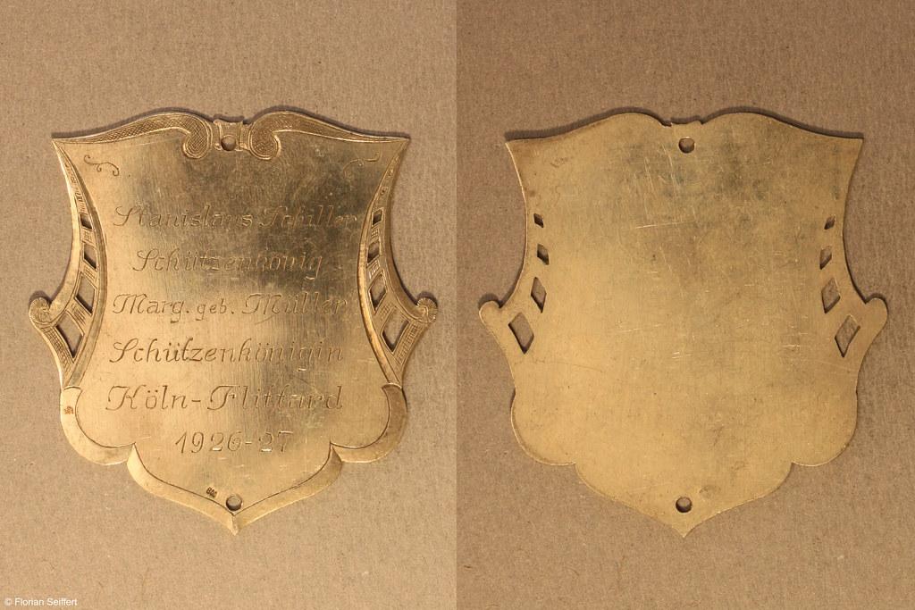 Koenigsschild Flittard von schiller stanislaus aus dem Jahr 1926