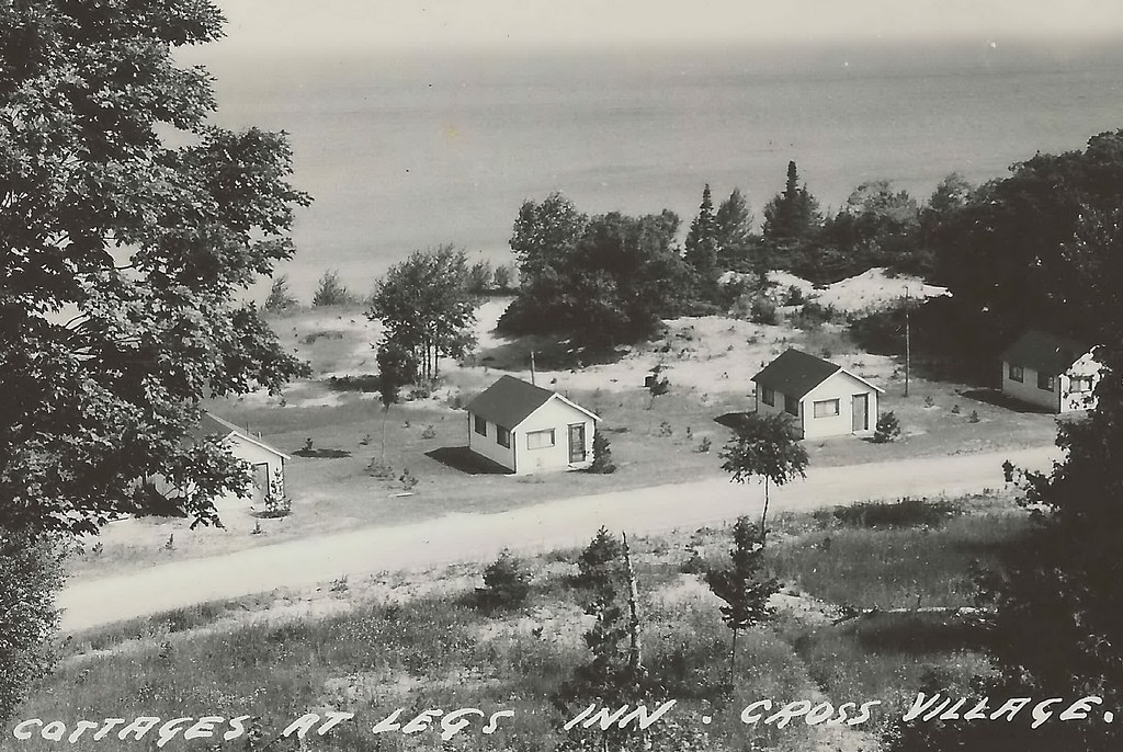 Nw Cross Village Mi Rppc 1950s Lake Michigan Summer Touris