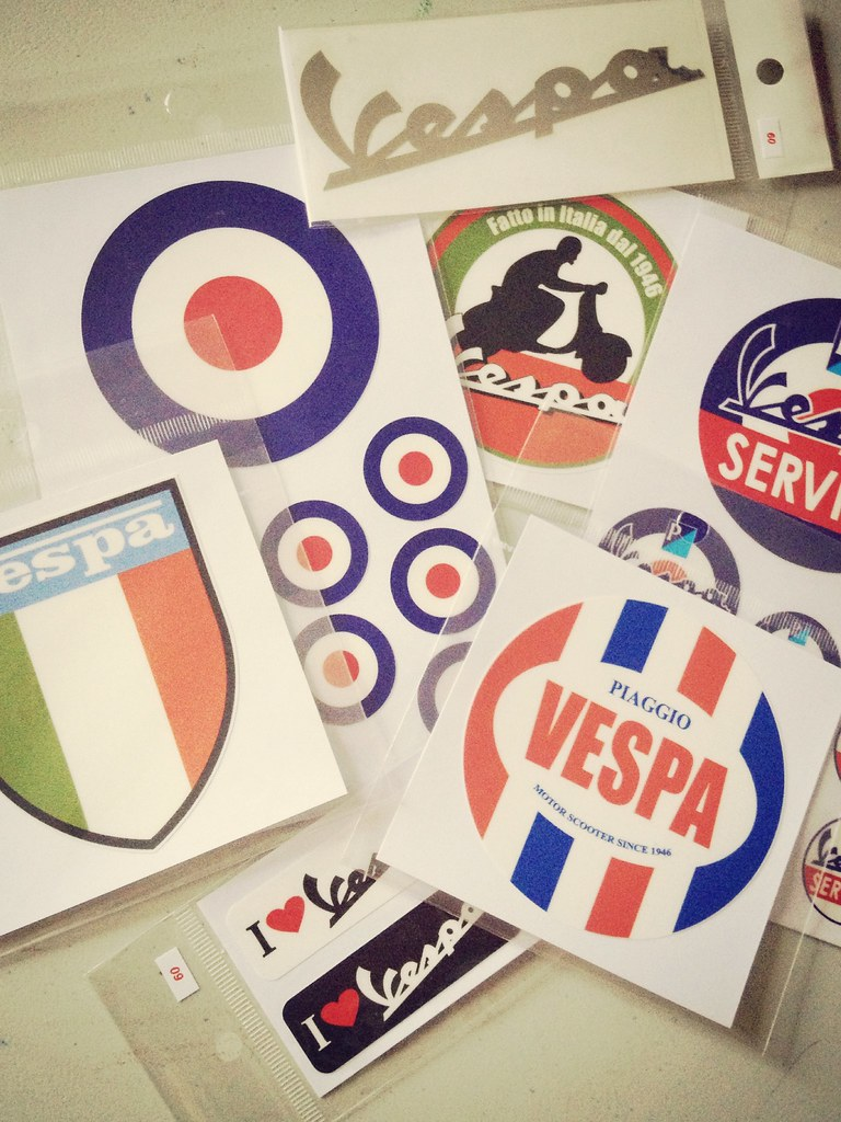 Vespa Stickers Scooter Vespa Stickers