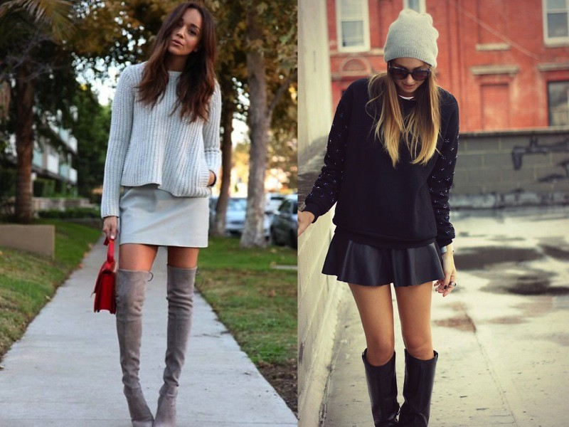 Top Uk Fashion Blogs Over The Knee Boots Street Style