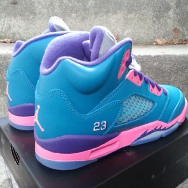 Retro Purple Jordans Jordan 5 Retro Tropical