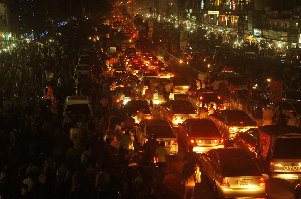dhaka city traffic jam