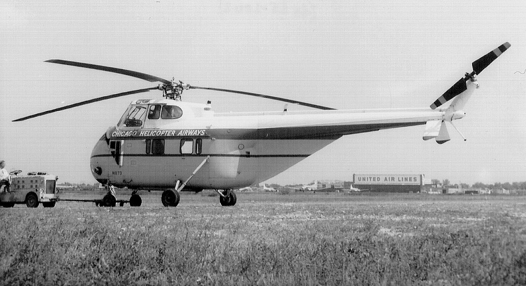 Elicottero S 55 : Chicago midway airport helicopter airways sikor