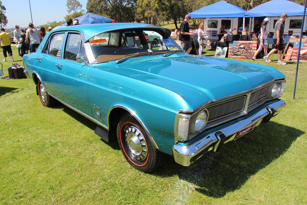 1971 Ford Xy Fairmont Sedan Teal Glow The Xy Falcon Was